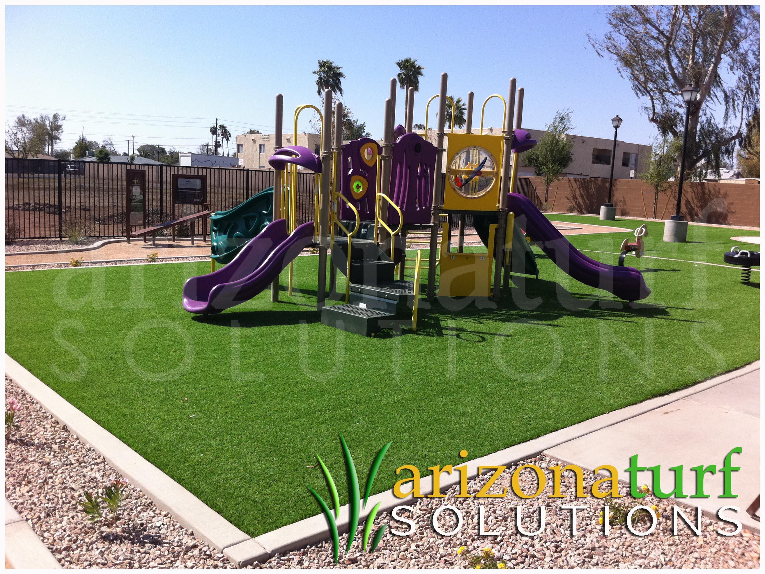 backyard playground ground cover round designs